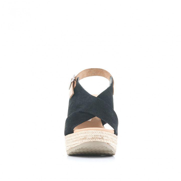 Sandalias tacón Redlove con bandas cruzadas negras y cogida al tobillo - Querol online