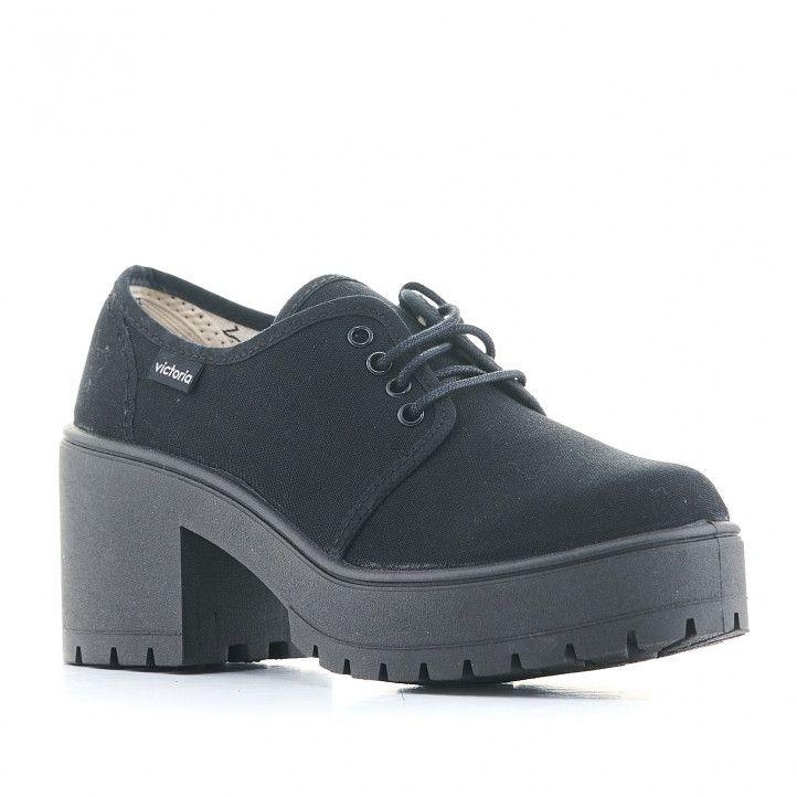 Zapatos tacón Victoria atalaia de lona y tacón de 7 cm - Querol online