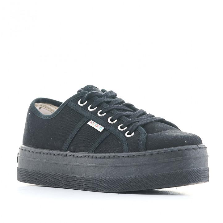 Zapatillas lona Victoria modelo barcelona monocromo - Querol online