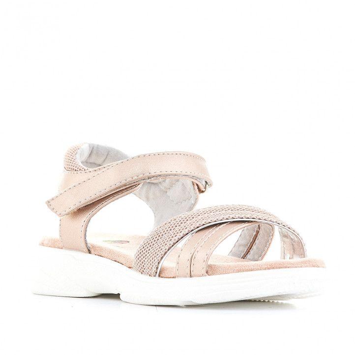 sandalias K-TINNI con diseño metalizado - Querol online