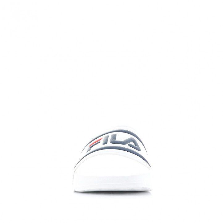 Chanclas Fila blancas con logo en pala - Querol online