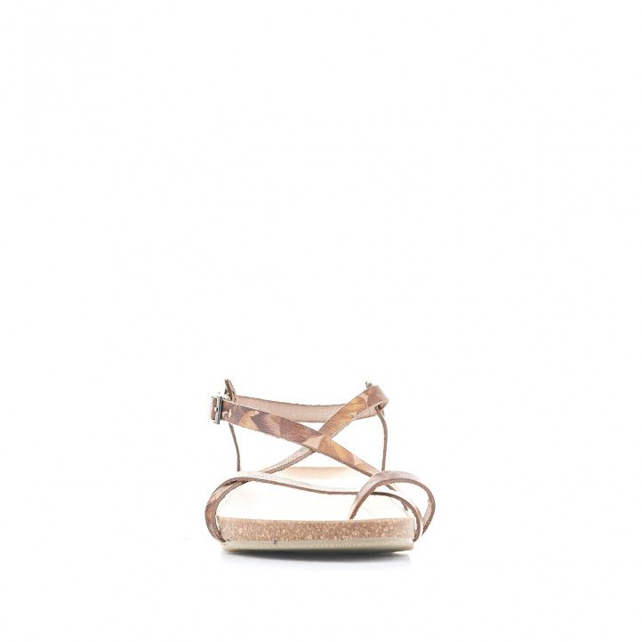 Sandalias planas Porronet de dedo con estampado de flores - Querol online