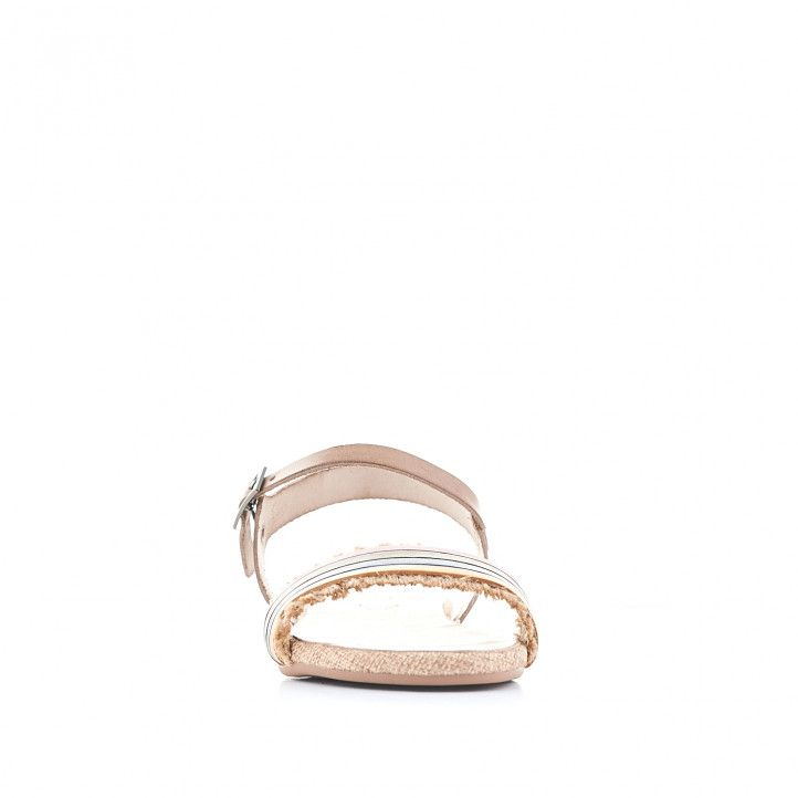 Sandalias planas Porronet con banda frontal de varios colores - Querol online