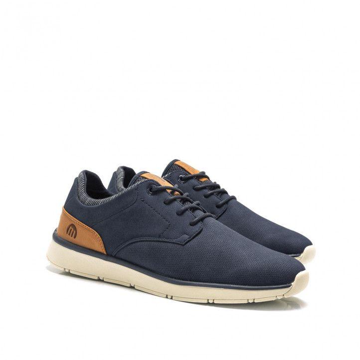 Zapatos sport Mustang en color azul marino con combinaciones - Querol online