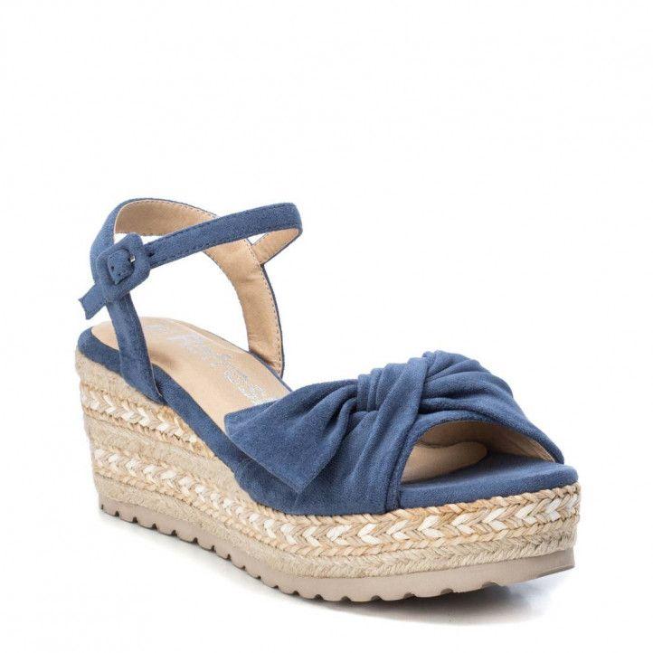 Sandàlies falca Refresh blaves amb llaç frontal - Querol online