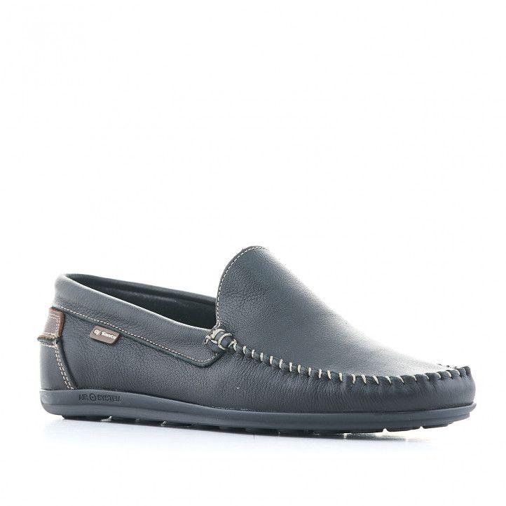 Zapatos vestir DJSANTA negros con detalles en marrón - Querol online