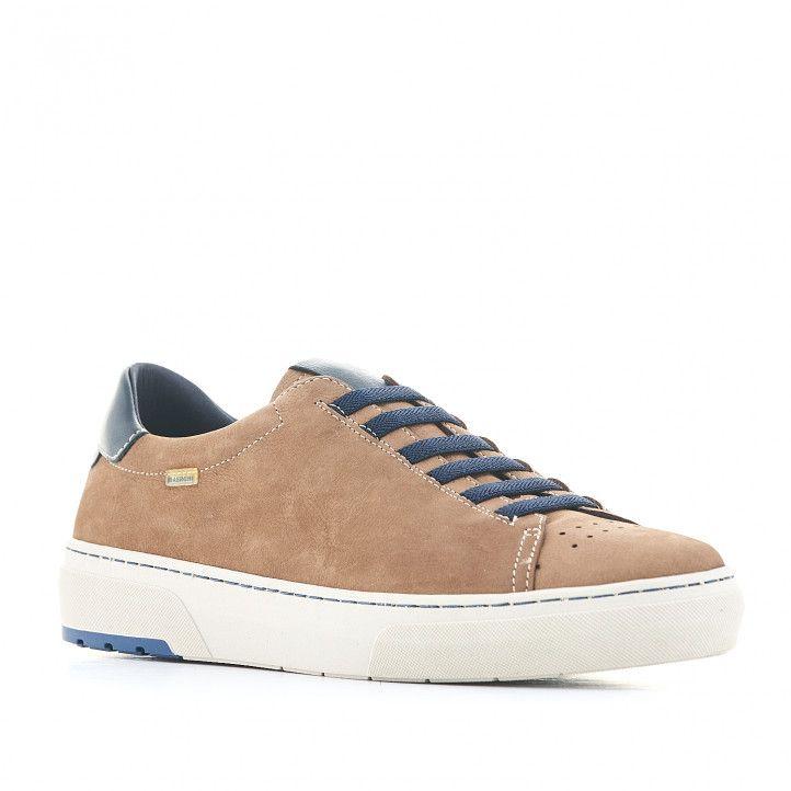 Zapatos sport Baerchi marrones con cordones en azul - Querol online