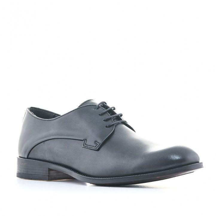 Zapatos vestir Baerchi negros con corte clásico - Querol online
