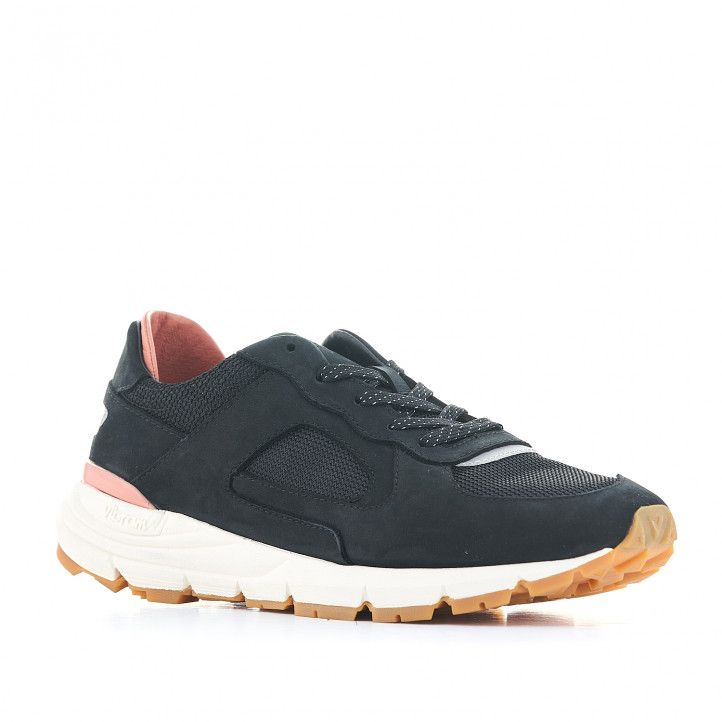 Zapatillas deportivas CLAE negras con interior salmón - Querol online