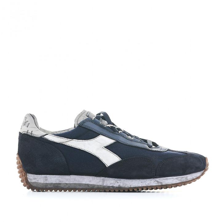 Zapatillas deportivas Diadora azules con logotipo en blanco - Querol online