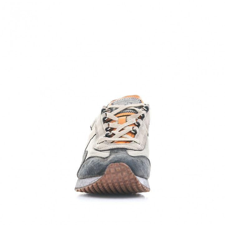 Zapatillas deportivas Diadora con combinación de grises y amarillo - Querol online