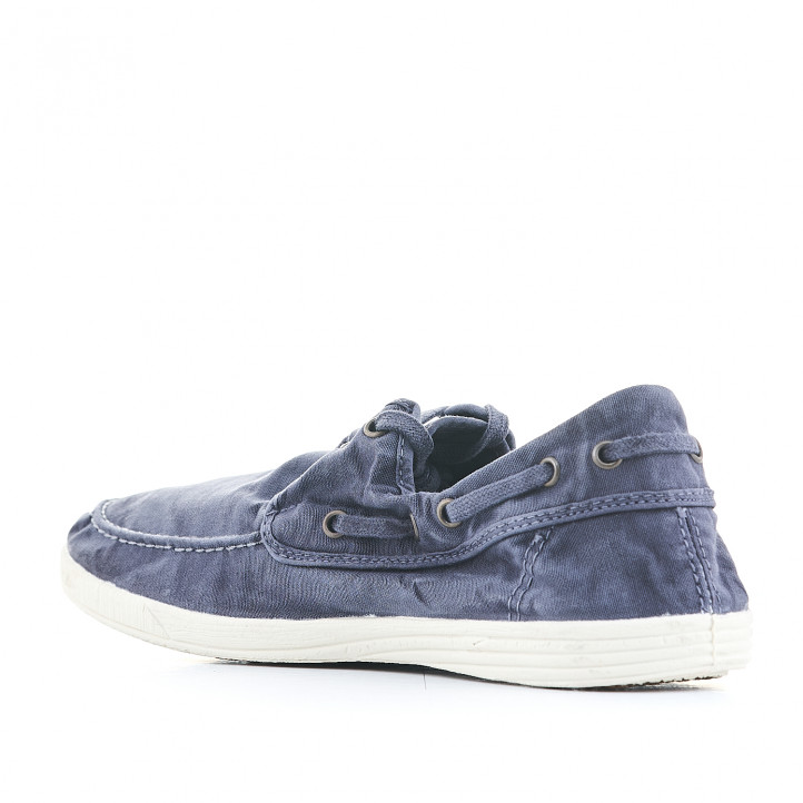Zapatillas lona NATURAL WORLD azules - Querol online