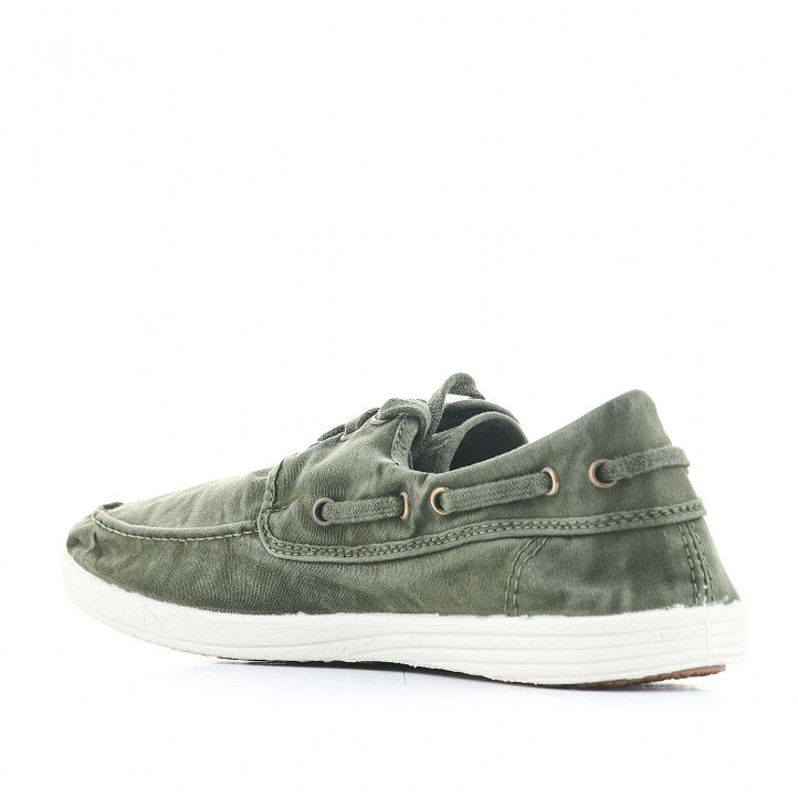 Zapatillas lona NATURAL WORLD verdes - Querol online