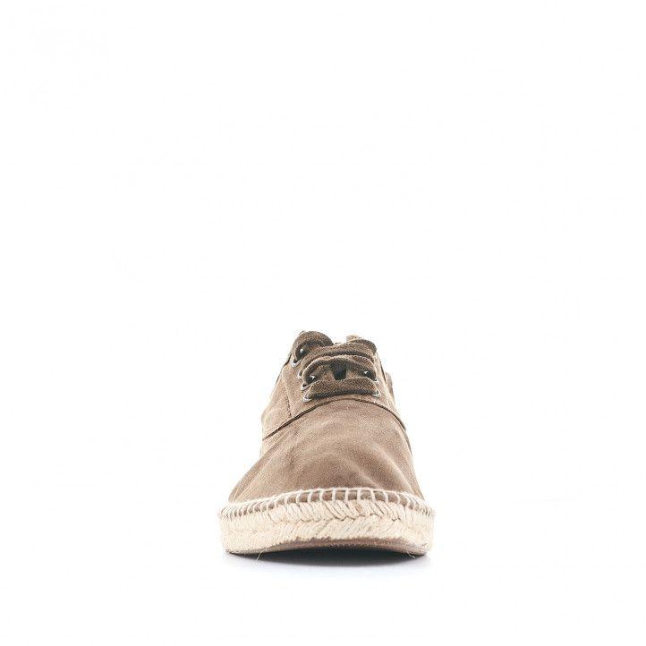 Zapatillas lona NATURAL WORLD marrones verdosas - Querol online
