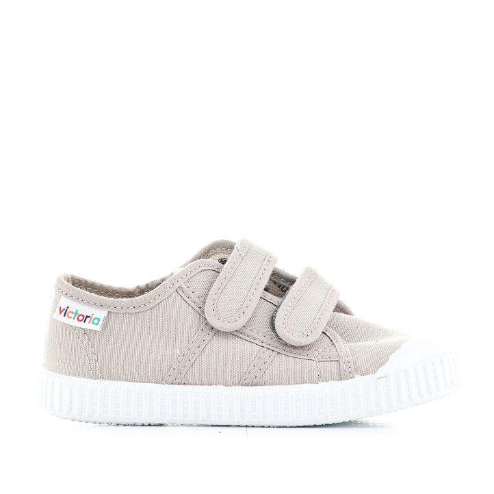 Zapatillas lona Victoria marrones - Querol online