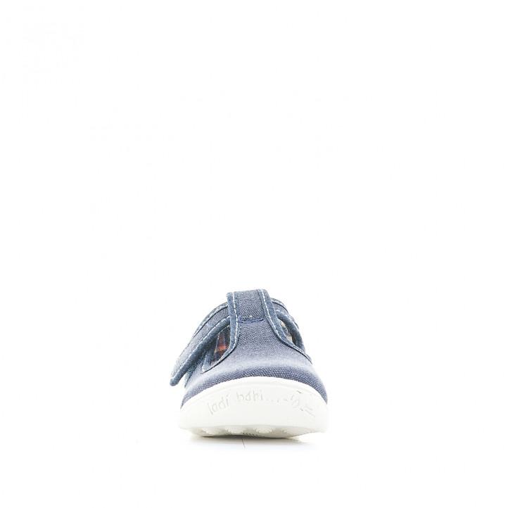 sabatilles lona Vul·ladi blaves amb sola blanca - Querol online