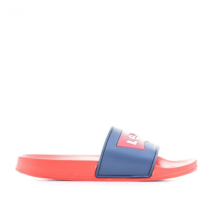 xancletes Levi's Kids vermelles amb logo vermell - Querol online