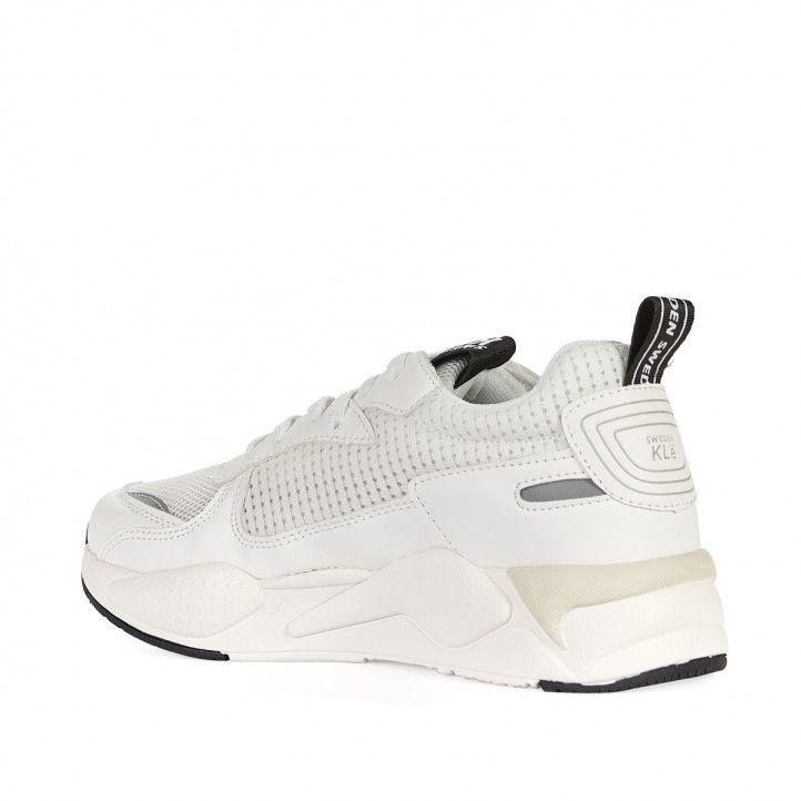 Zapatillas deportivas Sweden Klë blancas con partes en crema - Querol online
