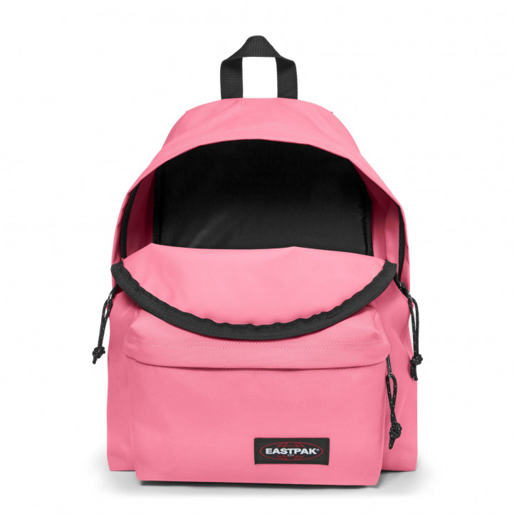 Mochila Eastpak rosa con tiras negras - Querol online
