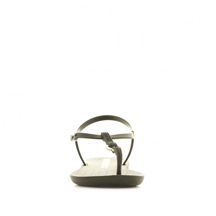 Xancles Ipanema negres amb detall metàl·lic - Querol online