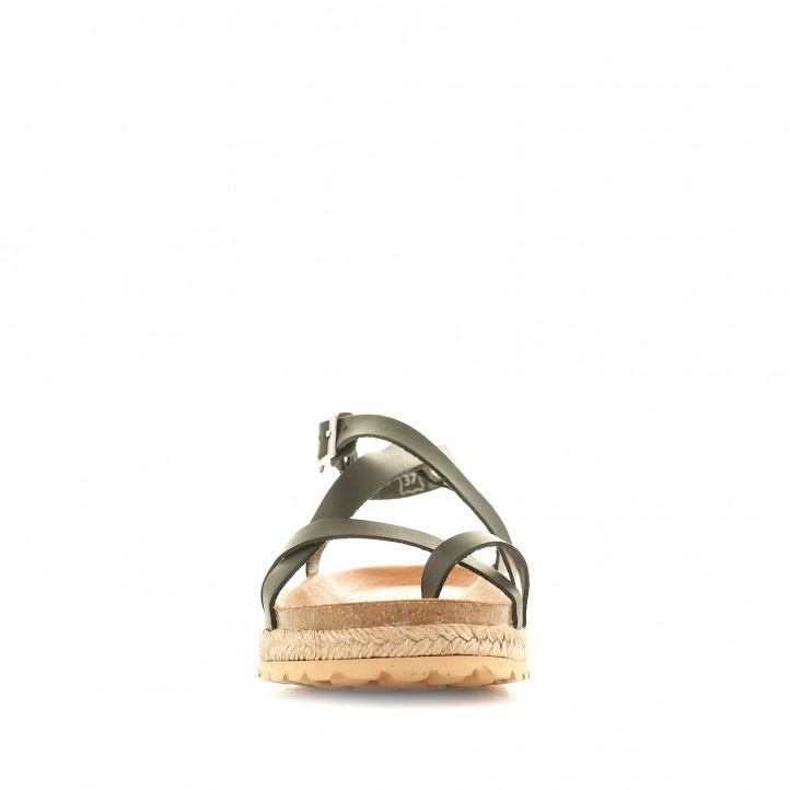 Sandàlies plataformes THE HAPPY MONK negres amb una mica de plataforma - Querol online