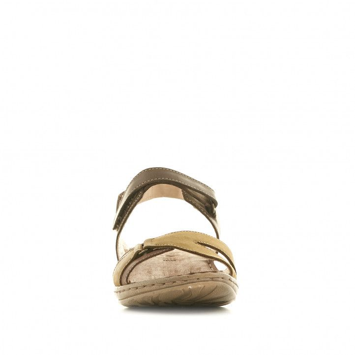 Sandàlies planes Walk & Fly marrons verdoses - Querol online