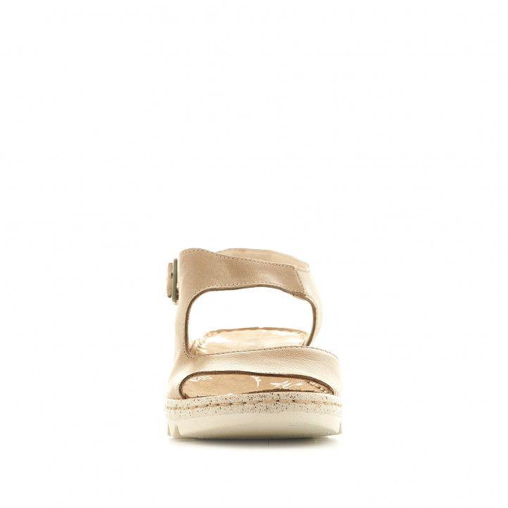 Sandalias cuña Walk & Fly grises con banda cruzada - Querol online