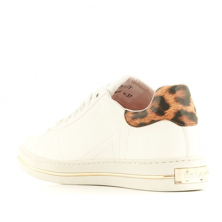 Zapatillas deportivas Replay blancas con parte posterior animal print - Querol online