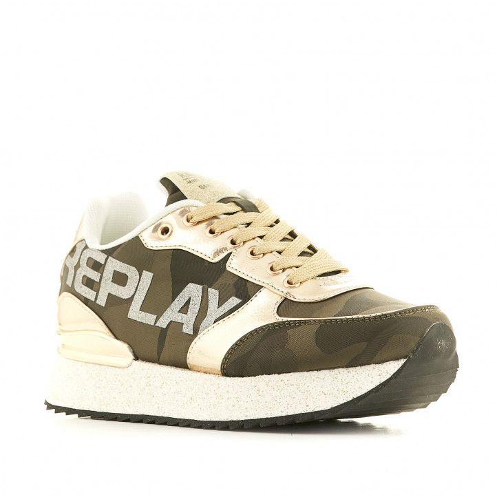 Zapatillas deportivas Replay verdes militares - Querol online