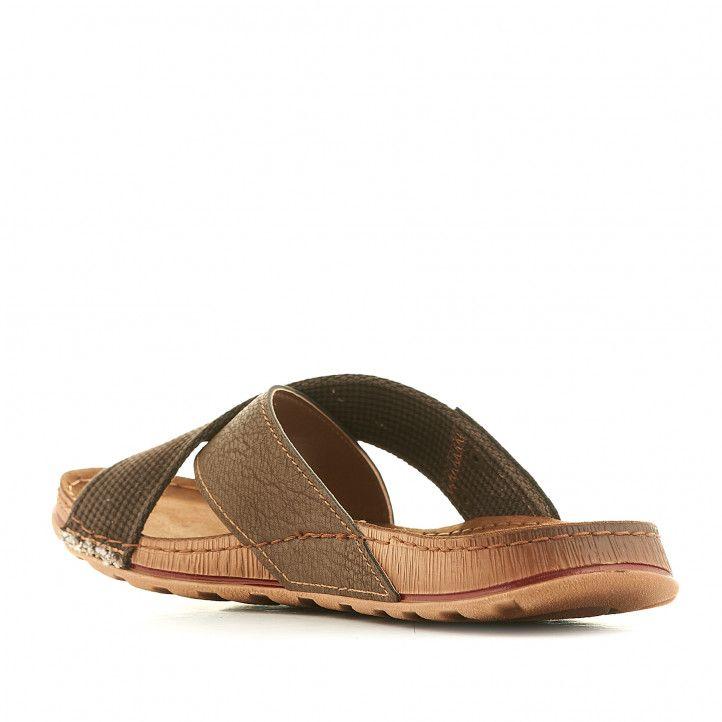 Sandàlies In Blu marrons amb tira davantera creuada - Querol online