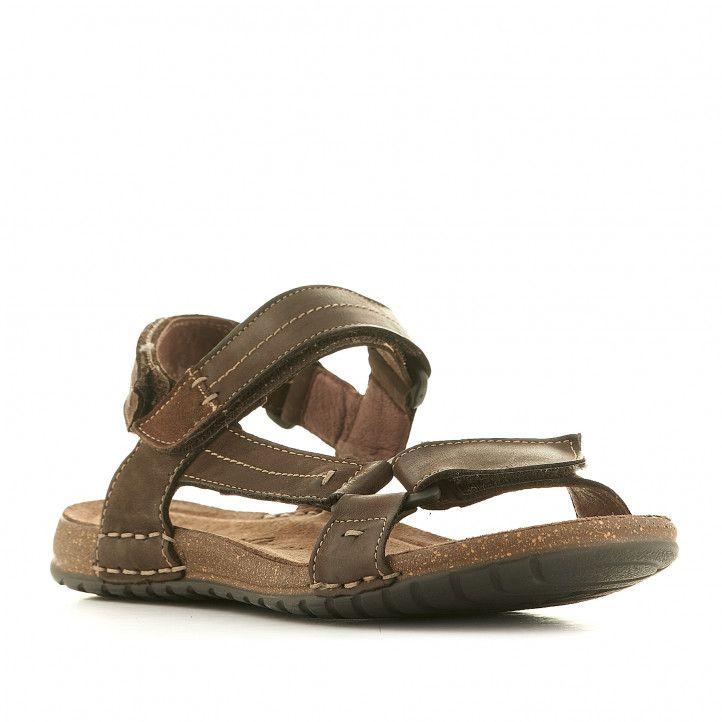 Sandàlies Walk & Fly marrons amb tira lateral - Querol online