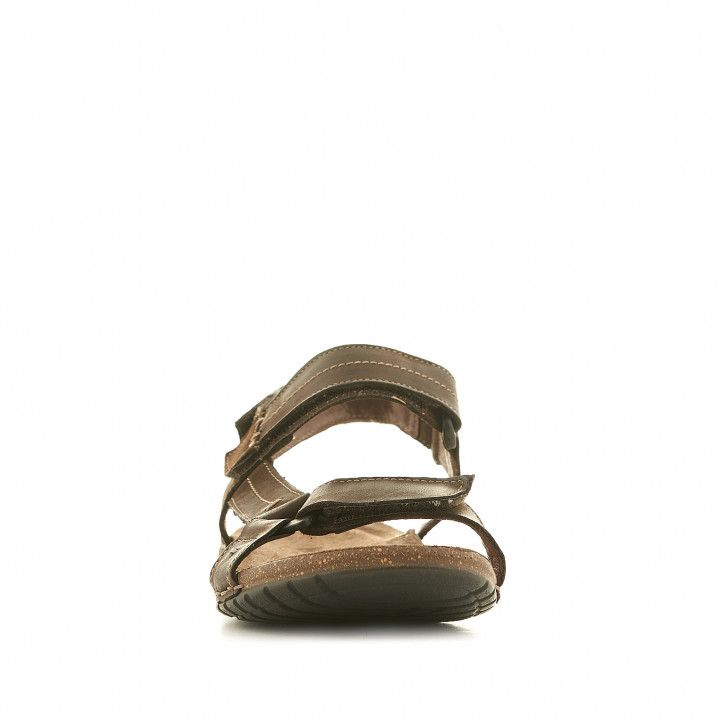 Sandalias Walk & Fly marrones con tira lateral - Querol online