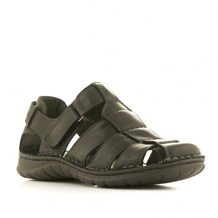 Sandàlies Walk & Fly negres tancades - Querol online