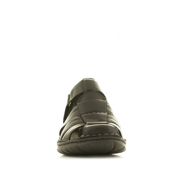 Sandalias Walk & Fly negras cerradas - Querol online