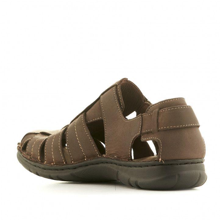 Sandàlies Walk & Fly marrons tancades - Querol online