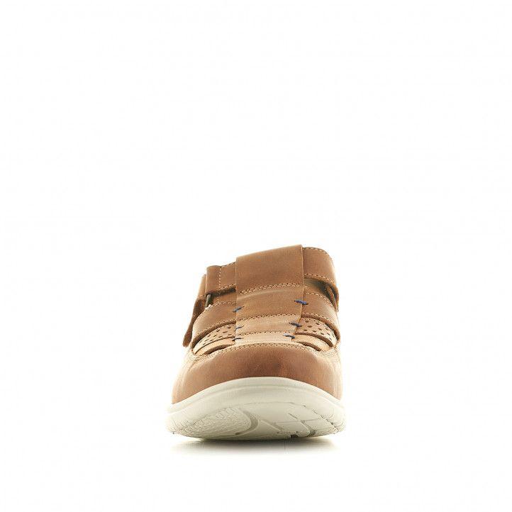 Sandàlies Fluchos marrons tancades amb la sola blanca - Querol online