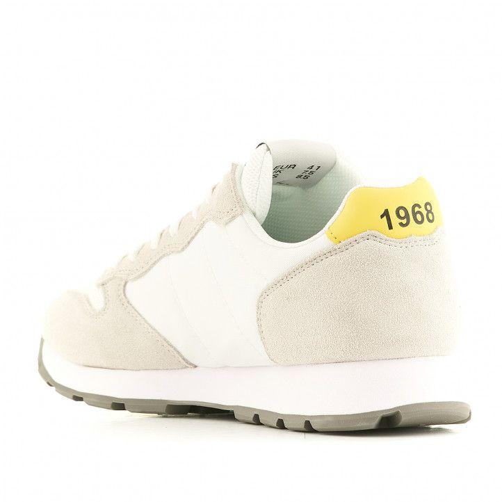 Zapatillas deportivas SUN68 blancas inspiradas en Japón - Querol online