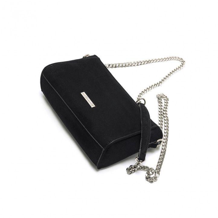 bolsos Maria Mare negro pequeño con cadena plateada - Querol online