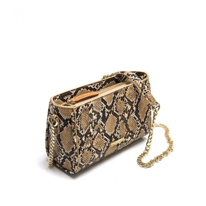 bolsos Maria Mare pequeño con estampado de serpiente - Querol online