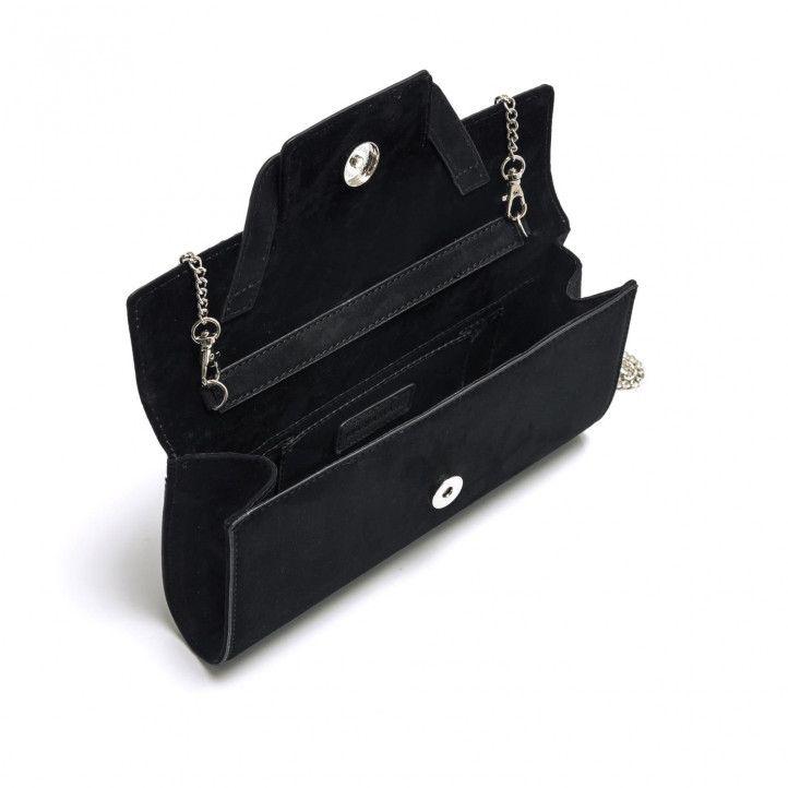 bolsos Maria Mare de mano rectangular en color negro - Querol online