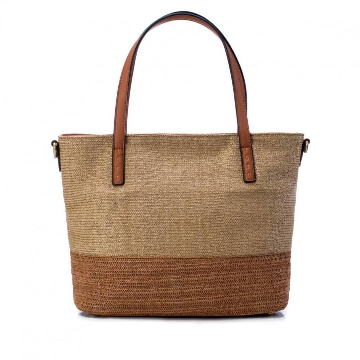 bosses Refresh marró bicolor amb teixit de ràfia - Querol online