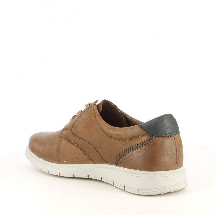Zapatos sport Vicmart marrones con cordones talón negro - Querol online