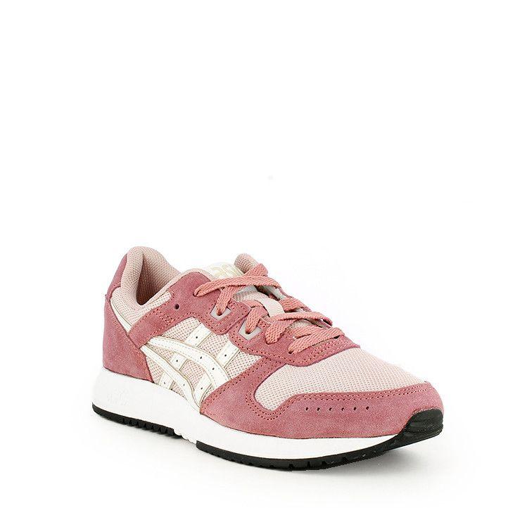 Zapatillas deportivas Asics LYTE CLASSIC rosas con logo en blanco - Querol online