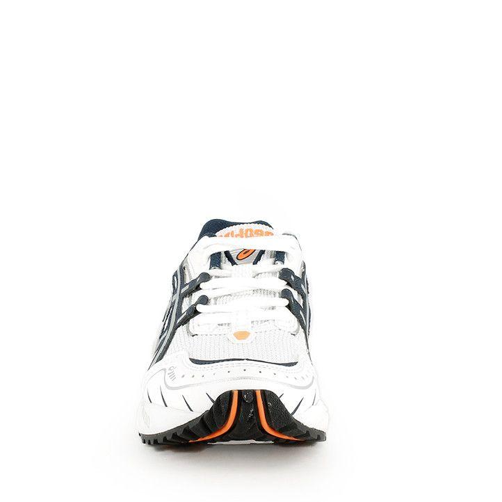 Sabatilles esportives Asics GEL-1090 blanques amb detalls en taronja i amortiment en la sola - Querol online