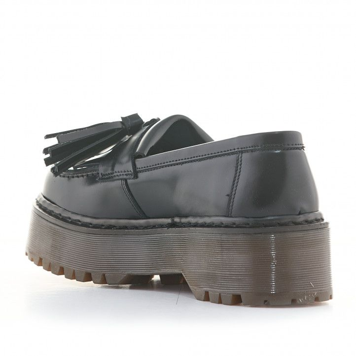 Zapatos plataforma Redlove negros de piel tipo mocasín con plataforma - Querol online