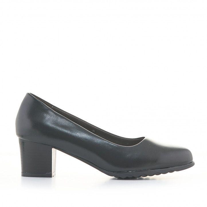 Zapatos tacón Amarpies negros de estilo clásico - Querol online