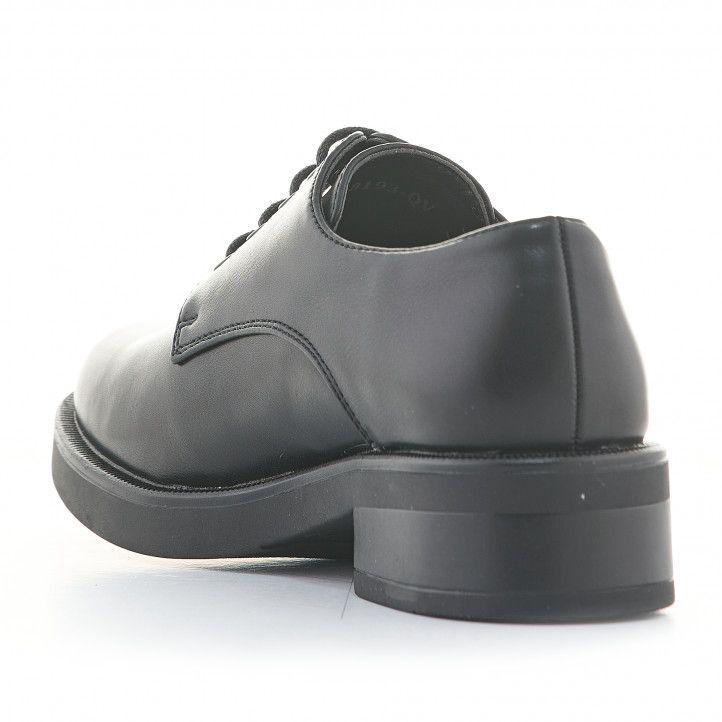 Zapatos tacón D'Angela negros con cordones y tacón bajo - Querol online