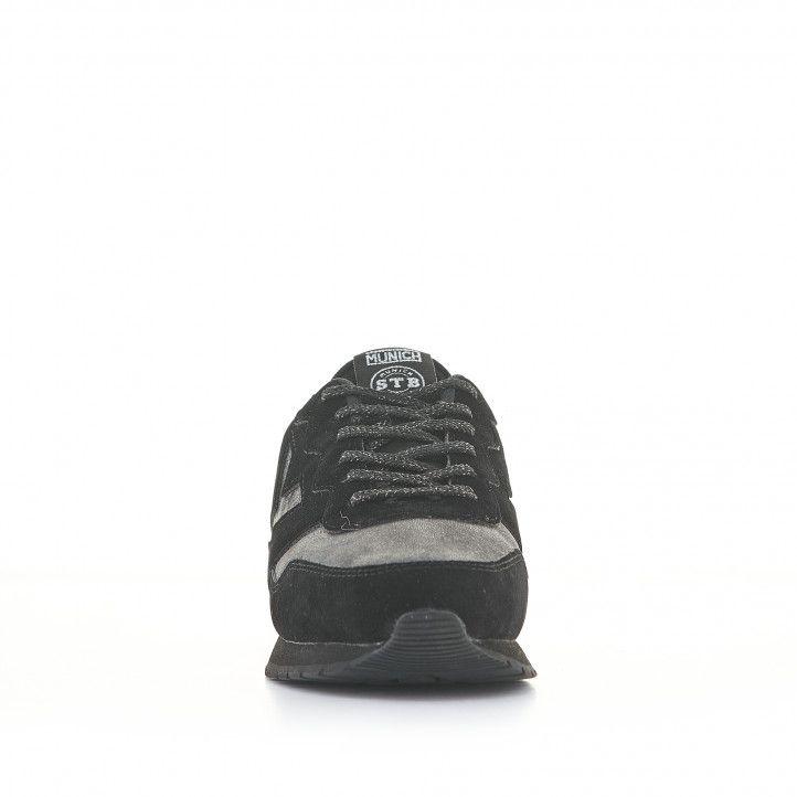 Zapatillas deportivas Munich dash woman 78 negras con detalles plateados - Querol online