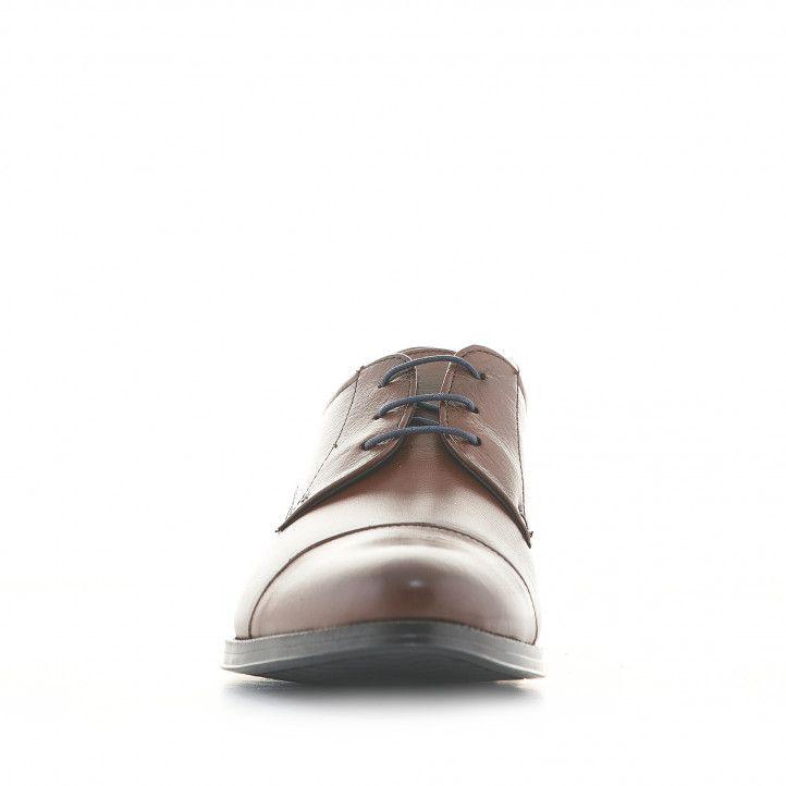 Zapatos vestir Baerchi de piel marrones con cordones estilo blucher - Querol online