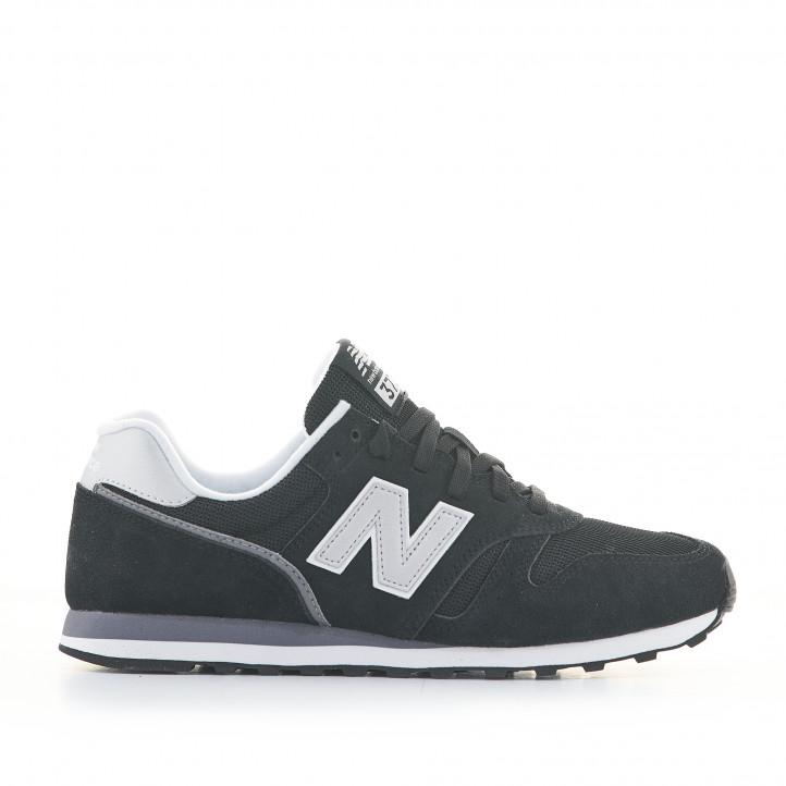 Zapatillas deportivas New Balance 373 negras con cordones - Querol online